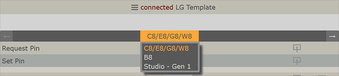 LG Templates for DeviceControl Interface using LightSpace CMS
