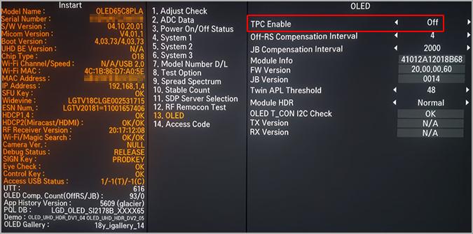 LG 2018 OLED Profiling using LightSpace CMS